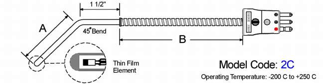General Purpose RTD. 45 Bend Diagram