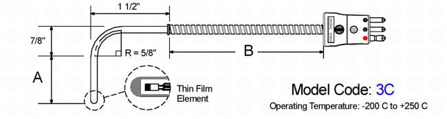 General Purpose RTD. 90 Bend Diagram