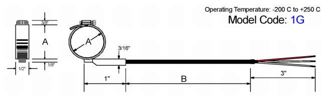 Pipe Clamp Style RTD Diagram